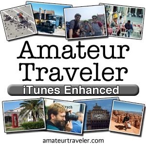 The Amateur Traveler podcast - 300 x 300
