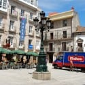 A square in Vigo's old town