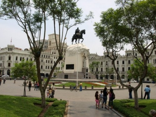 Plaza San Martin, Lima's colonial center - Matthew Barker