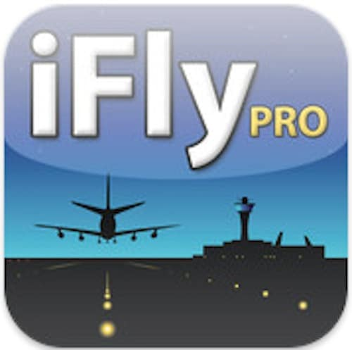 Logo of the iFly Pro app to help research and navigate airports when traveling