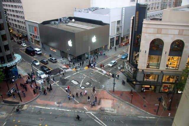 Apple Store view from Kimpton's Hotel Palomar - San Francisco California