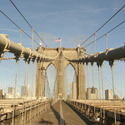 Brooklyn Bridge Pedestrian Walkway – New York City, New York – Photo