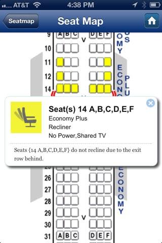 SeatGuru iPhone app