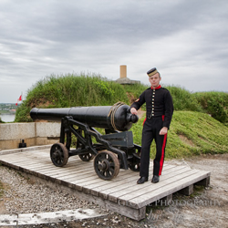 Manning the Cannon at the Citadel – Halifax, Nova Scotia – Photo