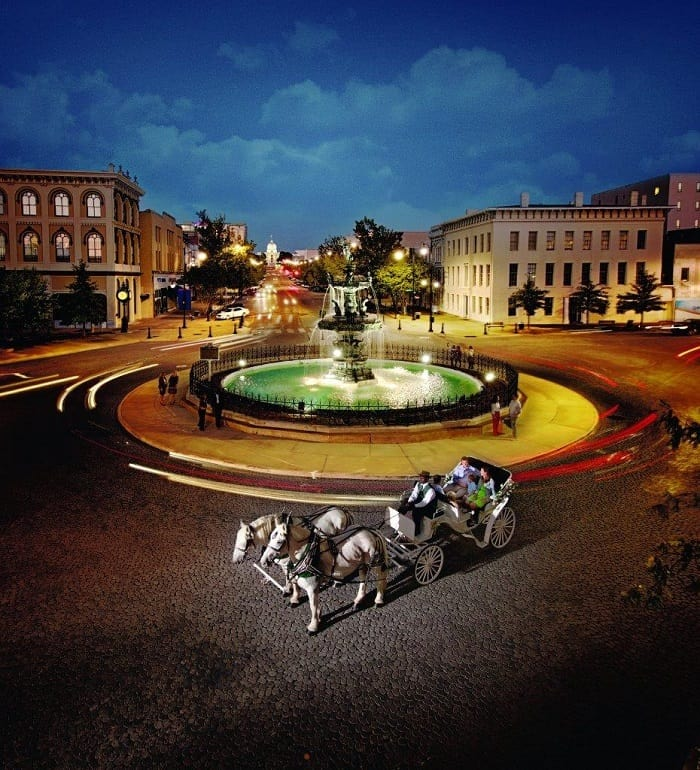 Fountain and Carriage downtown Montgomery