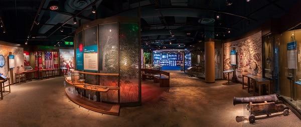 Displays inside the Museum of Alabama