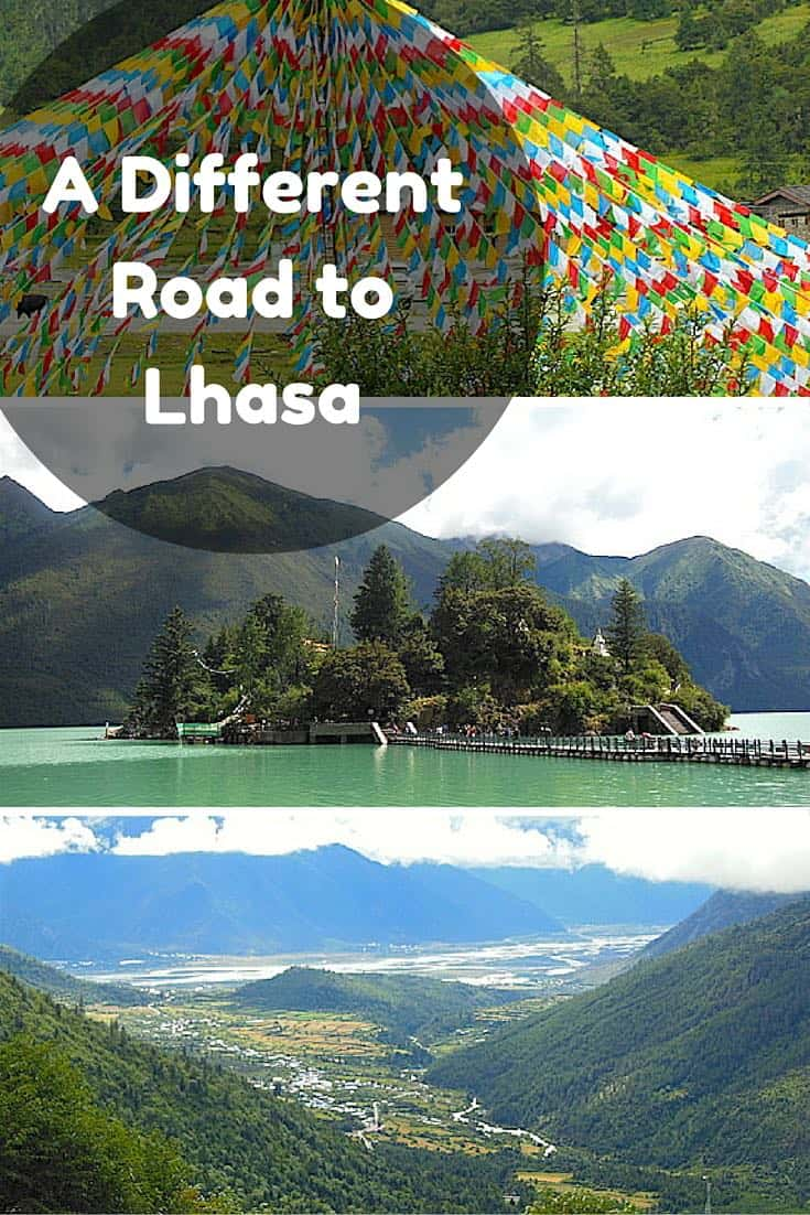 A Different Road to Lhasa. Taking a different route in Tibet in China