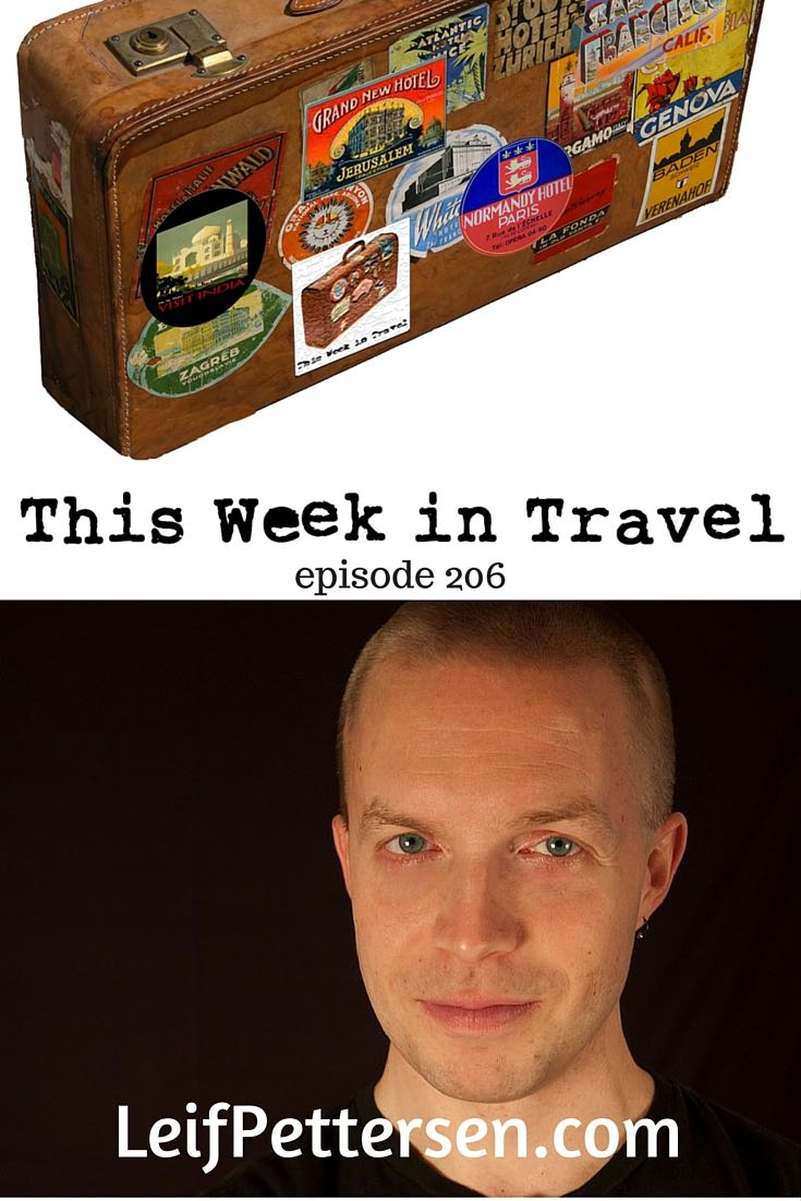 This Week in Travel - Travel News Podcast. Regular hosts Gary Arndt, Jen Leo and Chris Christensen are joined by this week's guest: Leif Pettersen