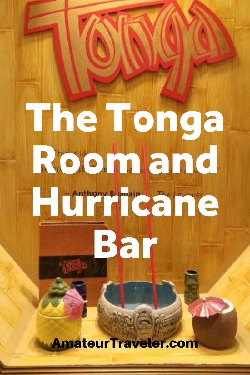 The Tonga Room and Hurricane Bar in San Francisco's Fairmont Hotel