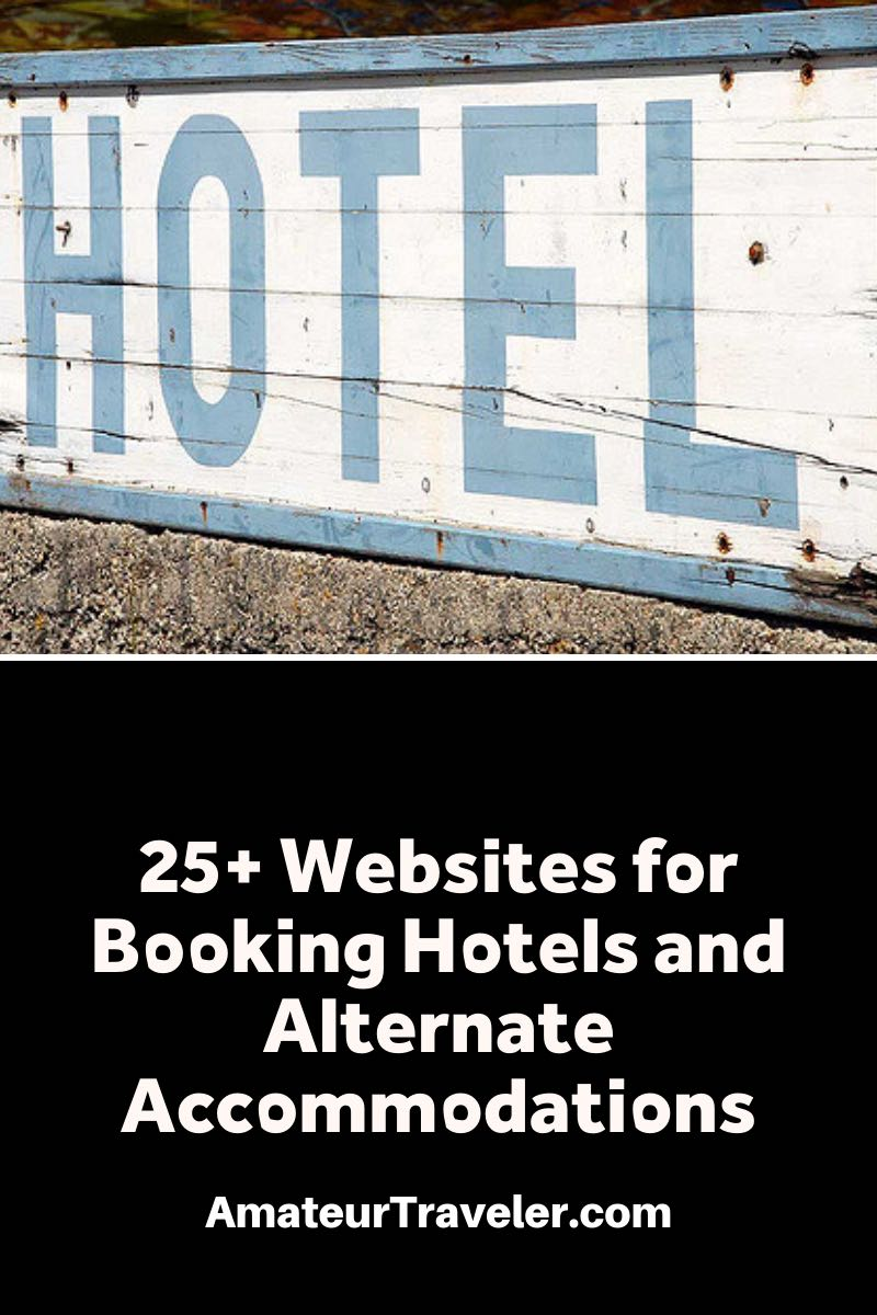 25 websites for booking hotels and alternatives for Hotel alternatives