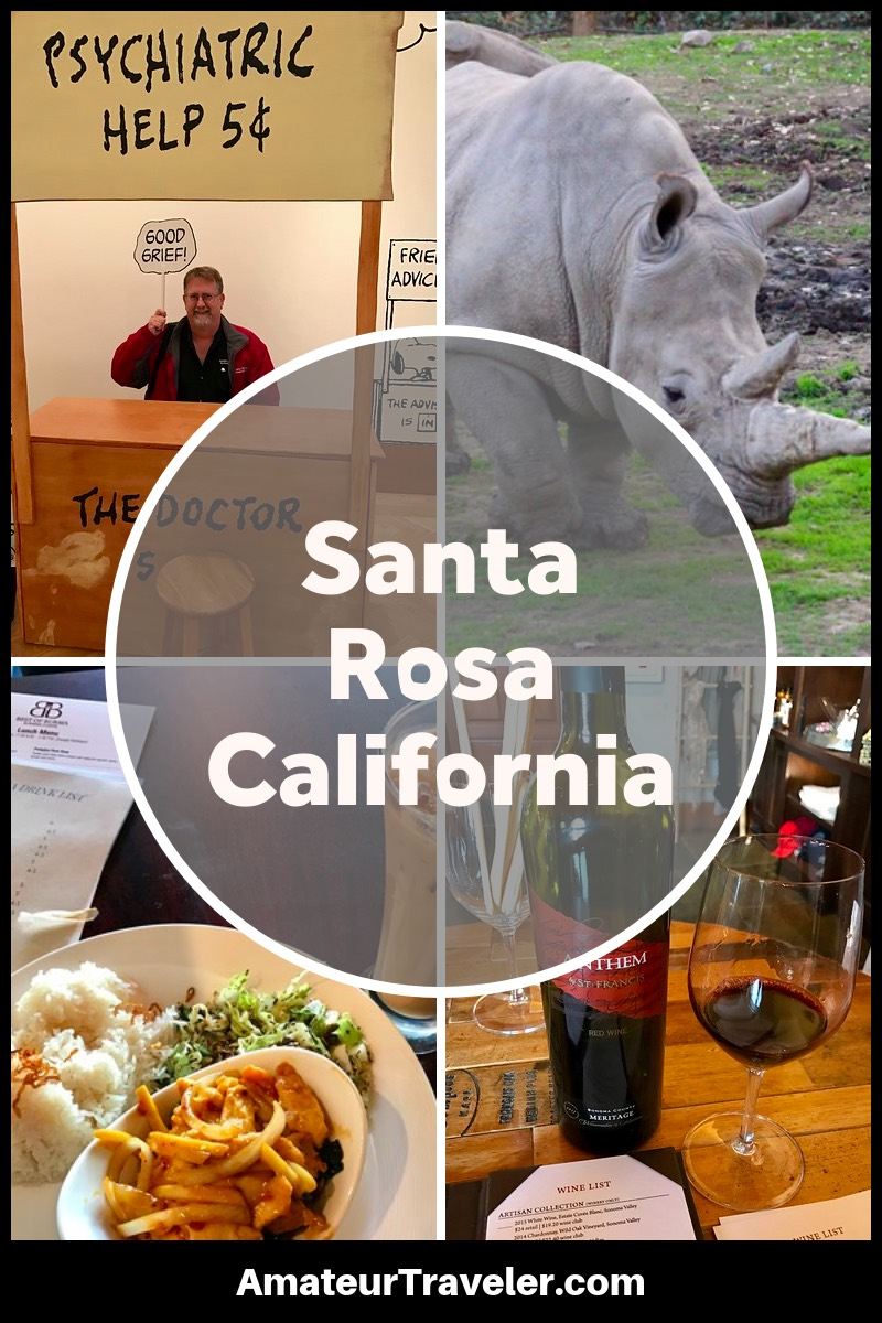 Visit Santa Rosa California, What to Do, See, Eat and Drink #travel #trip #vacation #california #santa-rosa #wine #winery #shultz #charlie-brown #food #drink #peanuts #charles-shutlz
