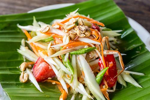 Green Papaya Salad (Som Tam) - Thailand