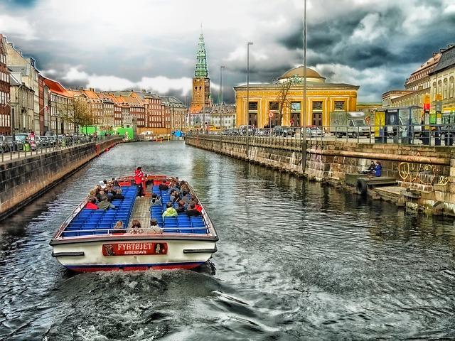 Canal boat in Copenhagen