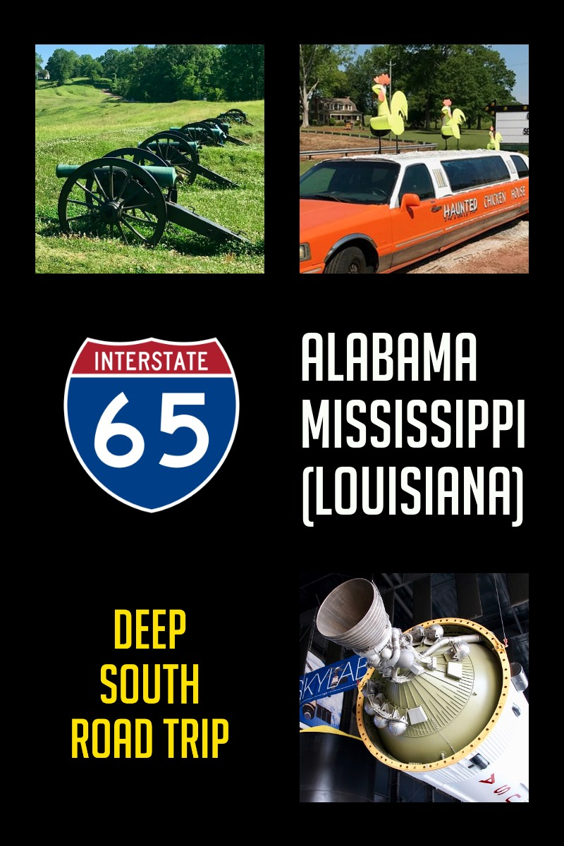 Deep South America Road Trip (Alabama, Mississippi and Louisiana) - beaches, battlefields, civil rights, civil war, rockets and haunted chicken coops #travel #roadtrip #usa #alabama #mississippi #Louisiana #trip #vacation #national-parks #u-s-states #america #united-states #history #cities