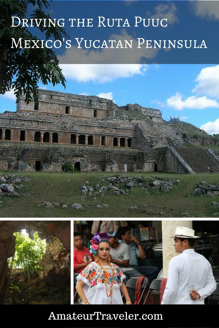 Mérida Meksika Yakınlarındaki Uxmal ve Diğer Maya Harabeleri - Ruta Puuc'u Sürüş