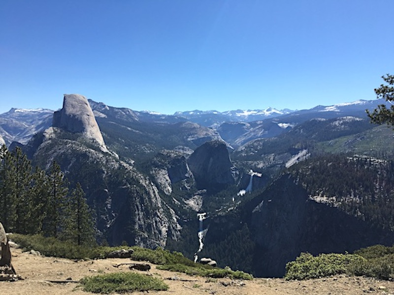 View of Vernal Falls from Glacier Point - Yosemite National Park