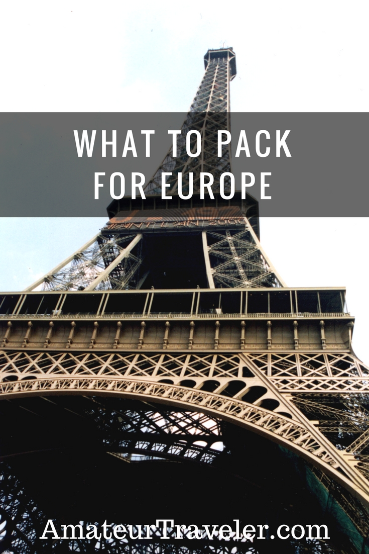 What to pack for Europe #travel #packing #europe