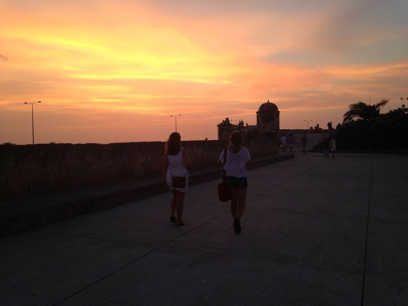 Sunset on the wall - Cartagena, Colombia