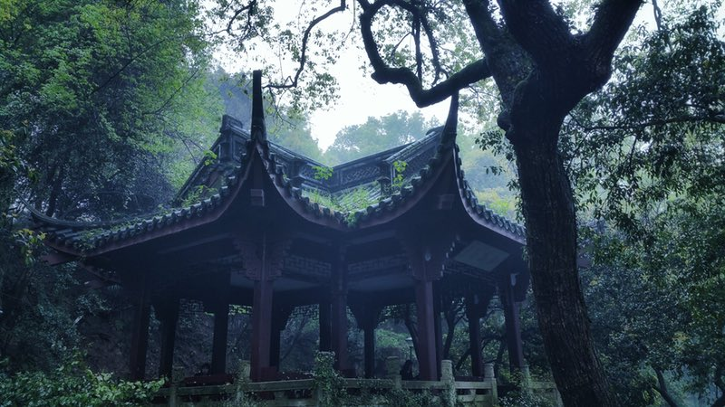 Hangzhou, Ching Ming, The Scenery, Pavilion