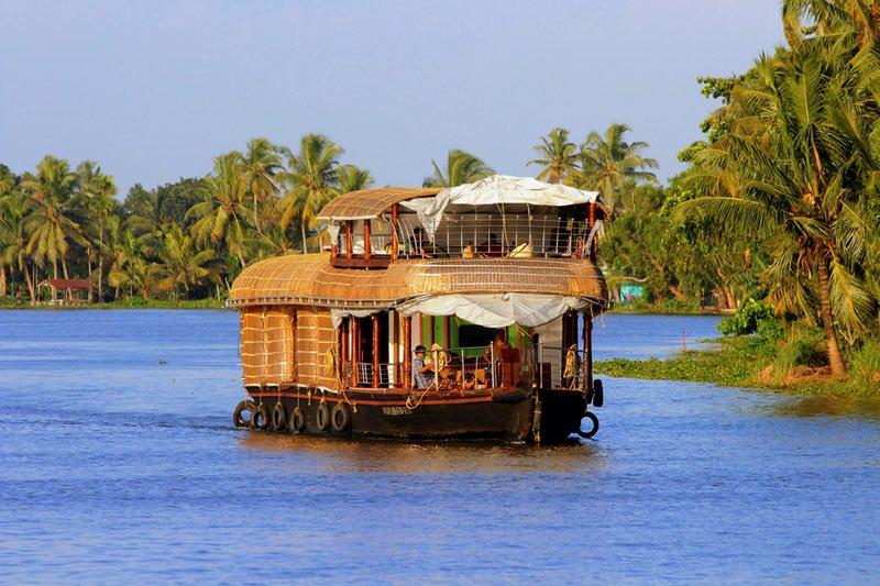 Tekne ev içinde Kerala, Hindistan