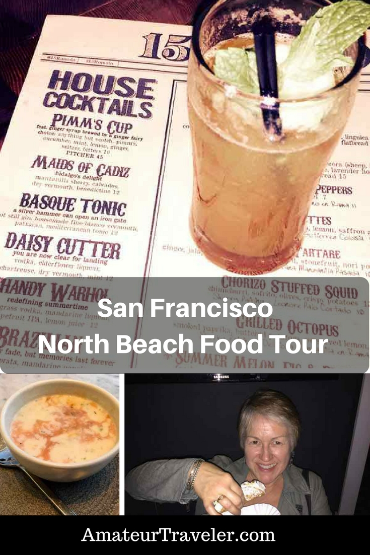 San Francisco North Beach Food Tour #travel #trip #vacation #california #san-francisco #north-beach #tour #food-tour #walking-tour #food #things-to-do #things-to-do-in #drinks #coctails