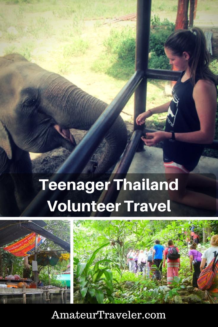 Teenager Thailand Volunteer Traveler Adventure | teenage volunteering abroad | teenage volunteer summer programs | thailand volunteer programs elephant