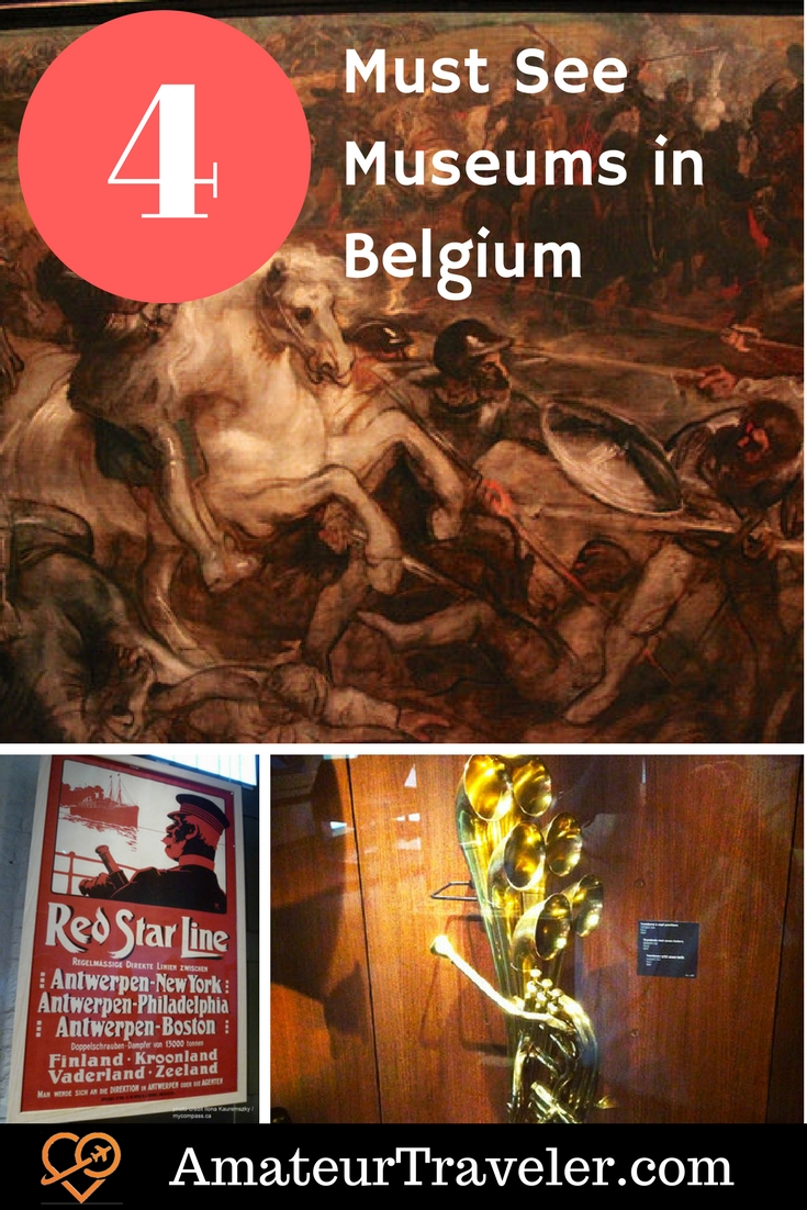 4 Must See Museums in Belgium - Art, Music and History #travel #trip #vacation #belgium #brussels #ieper #flanders #museum #withkids #culture #art #music #antwerp