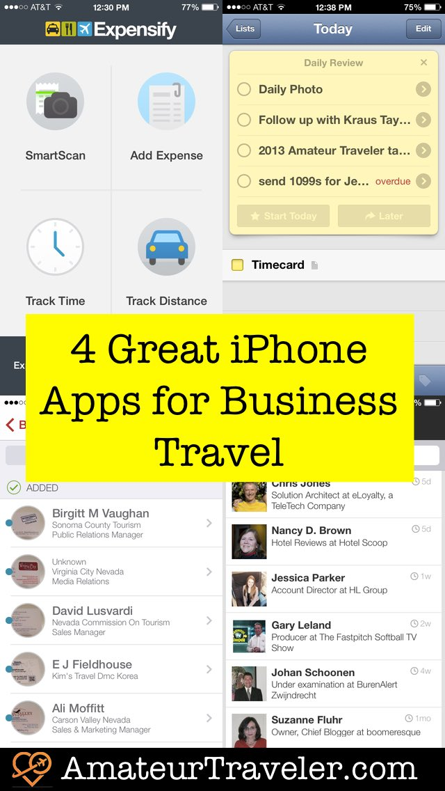 4 Great iPhone Apps for Business Travel