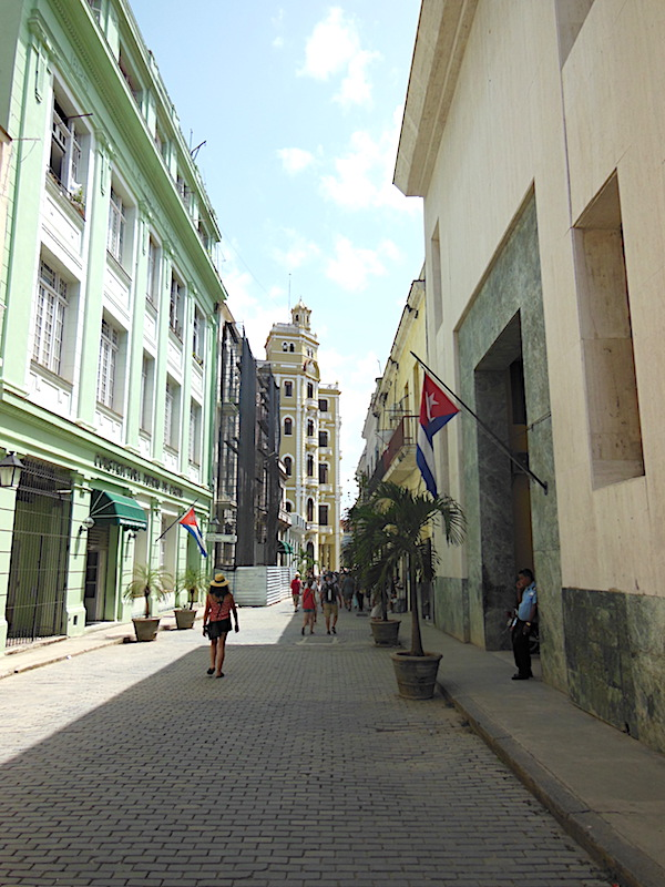 A partially restored street in Old Havana
