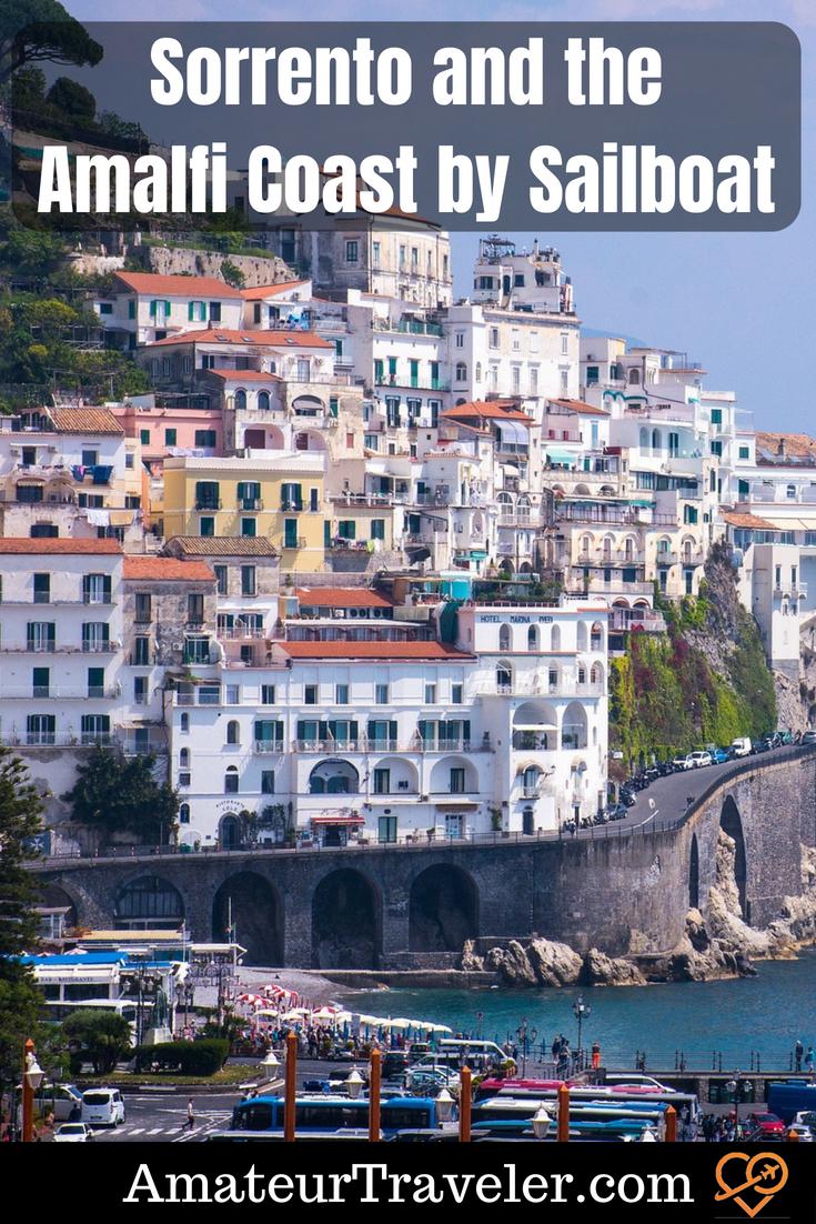 Sorrento ve Amalfi Sahili, Yelkenli tarafından #italy #travel #amalfi #sorrento #sailing
