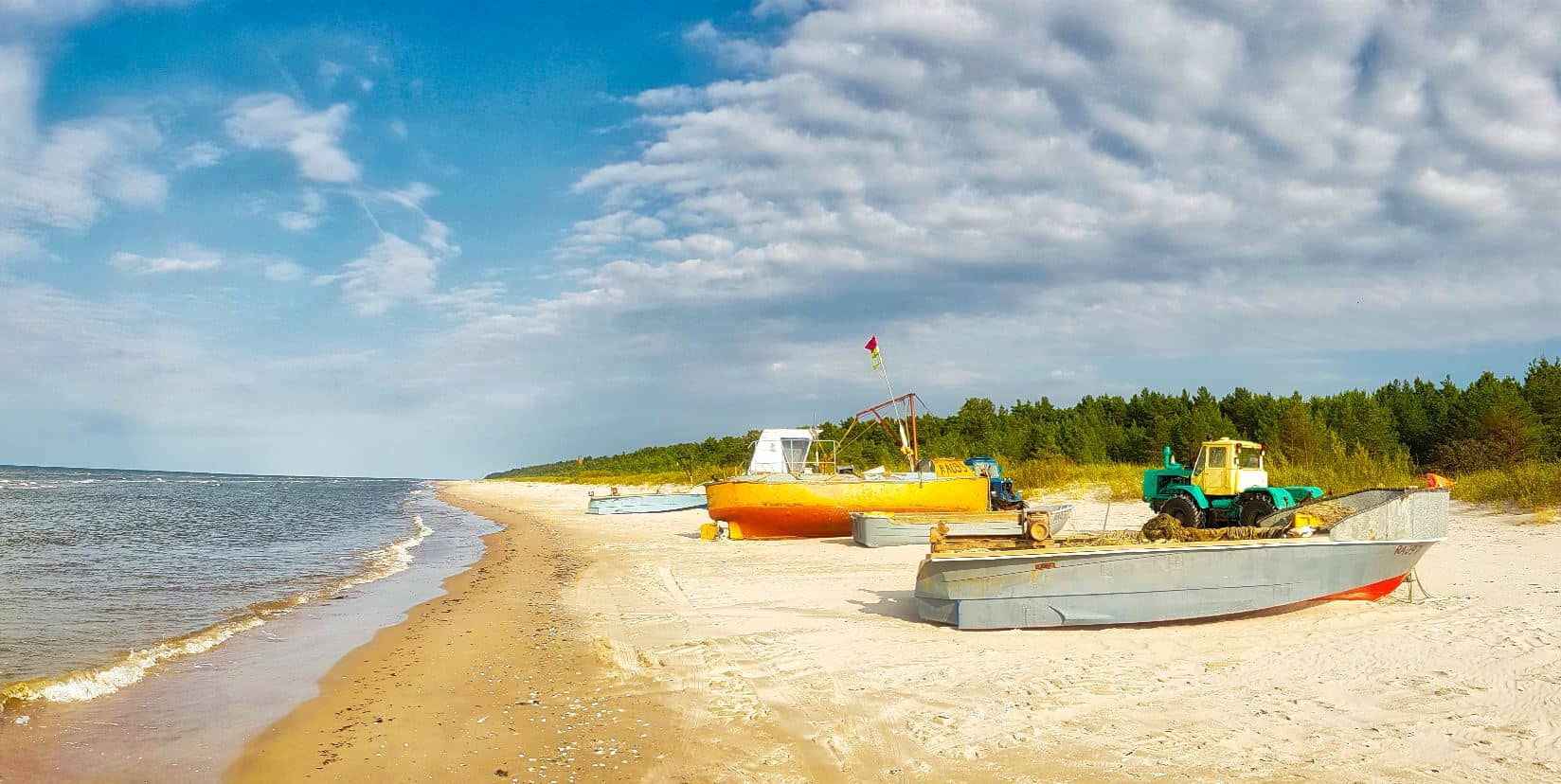 Remote fishermen village in the Western coast of Latvia