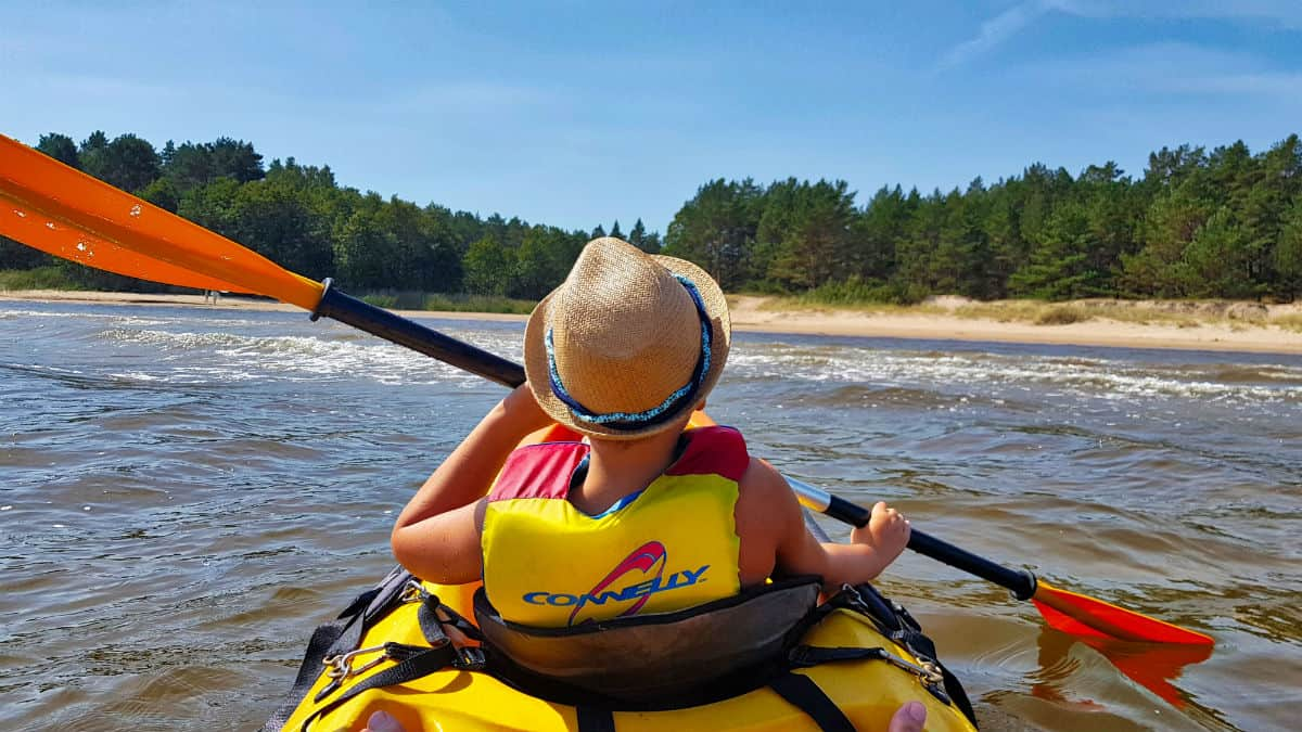 Sea kayaking in the Gulf of Riga