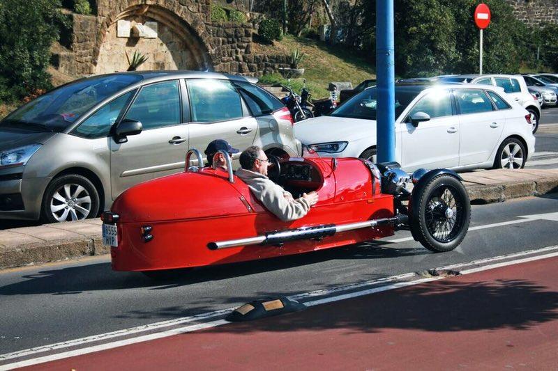 vintage yarış arabası - San Sebastian İspanya