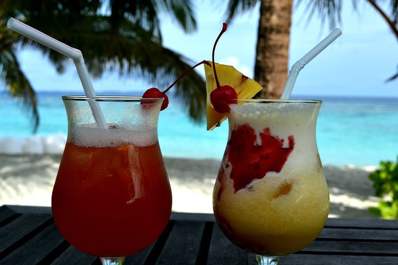 Cocktails in the Maldives