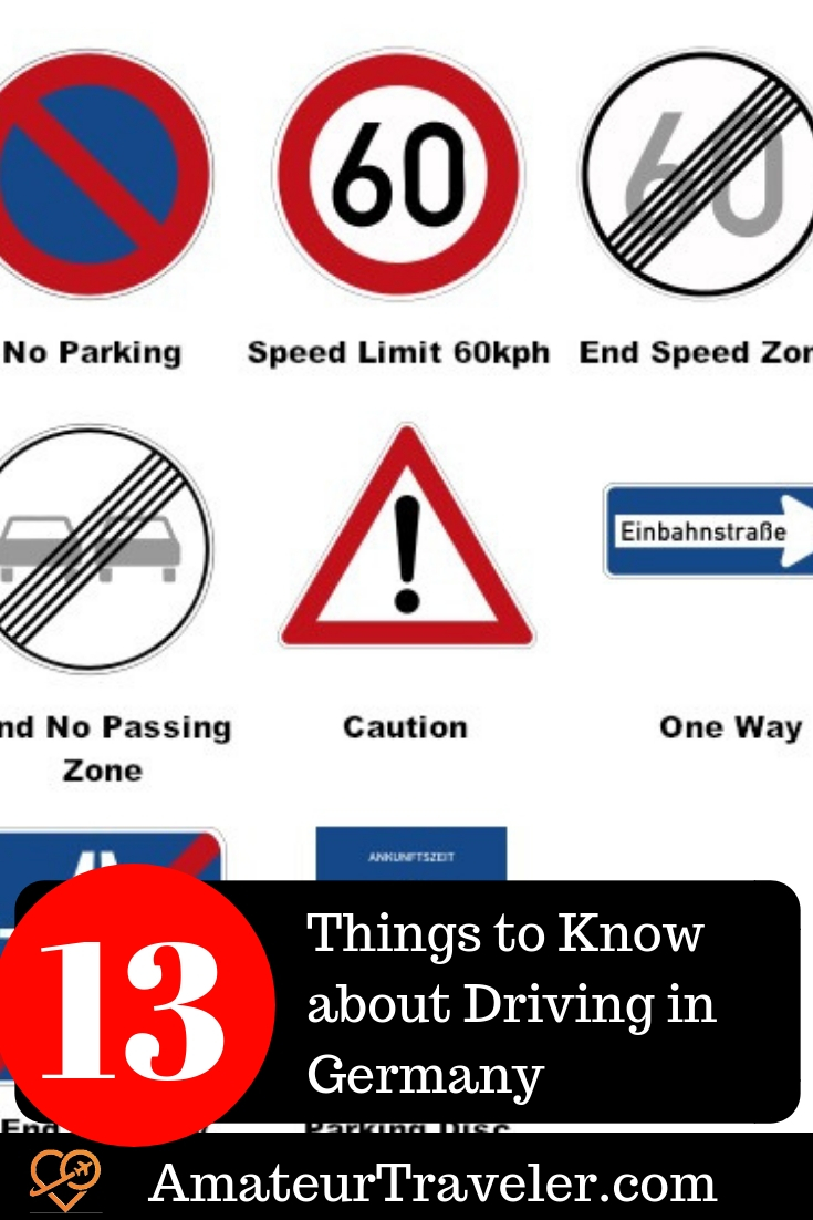 Driving in Germany as a Tourist - 13 Things to Know | International Driving Permit | German Road Signs | German speed limits
