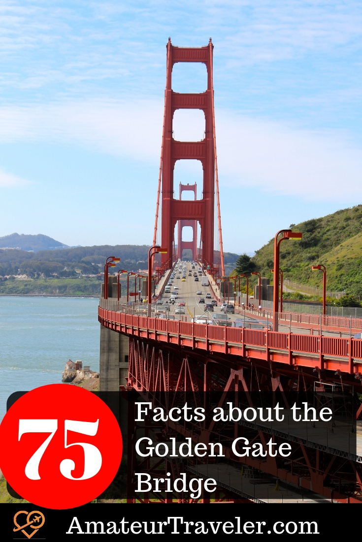 75 Facts about the Golden Gate Bridge #travel #trip #vacation #san-francisco #california #golden-gate #golden-gate-bridge #facts