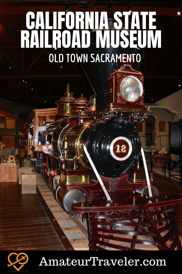 California State Railroad Museum - Old Town Sacramento #travel #trip #vacation #thingstodoin #ideas #train #railroad #museum #kids #family