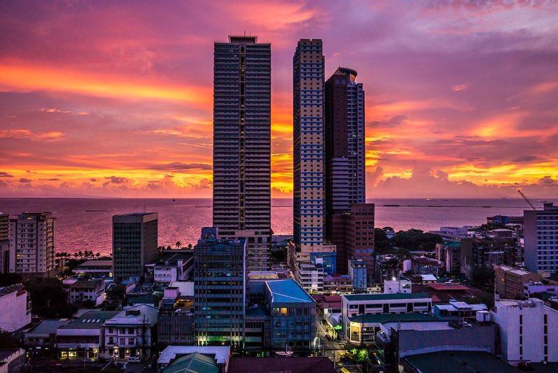 Manilla Körfezi günbatımı