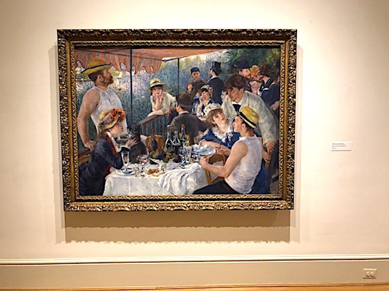 """Pierre-Auguste Renoir'in Phillips Collection'ın daimi koleksiyonunda sergilendiği """"Botla Partinin Öğle Yemeği"""""""
