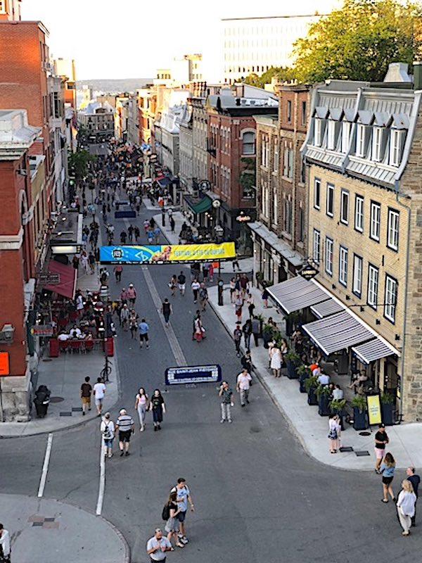 A view of the Rue Saint-Jean from atop the Porte Saint-Jean