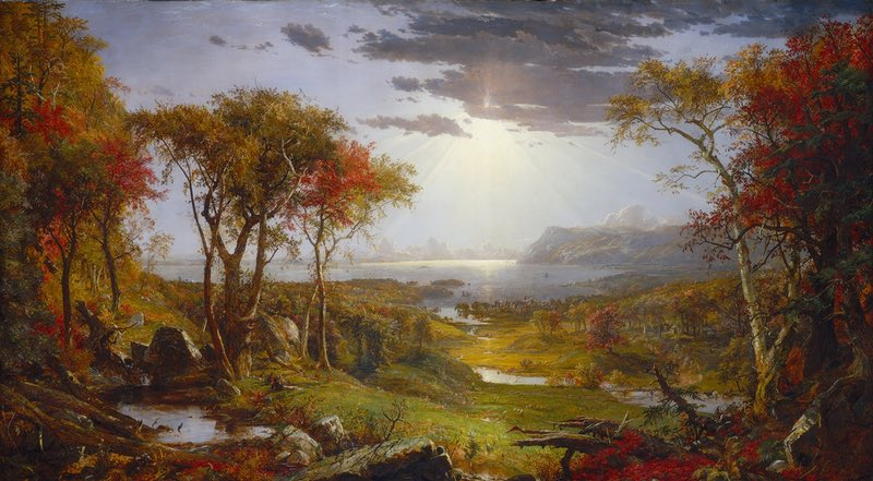 Cropsey, Jasper. Autumn on the Hudson River. 1860, National Gallery of Art.