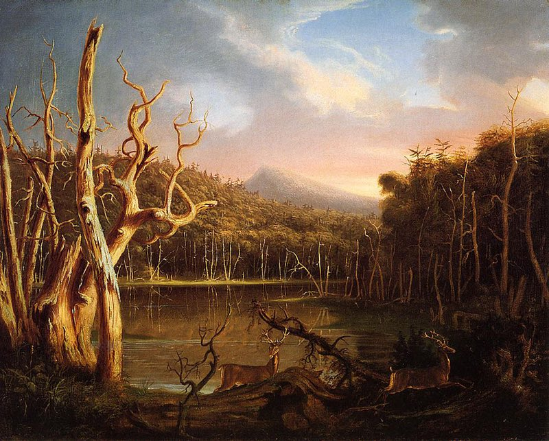 Cole, Thomas. Lake with Dead Trees (Catskill). 1825, Allen Memorial Art Museum.