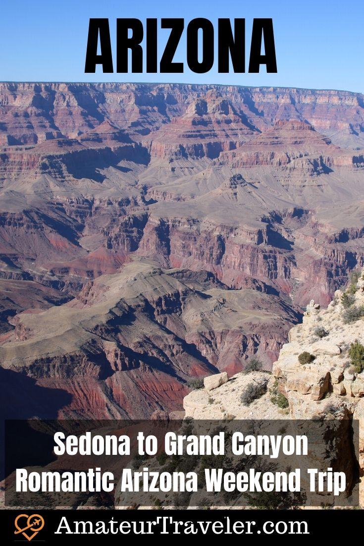 Sedona ke Grand Canyon - Perjalanan Akhir Pekan Arizona Romantis #travel #trip #vacation #arizona #sedona # grand-canyon # taman-nasional # hal-hal yang harus dilakukan # pink-jeep-tours #weekend