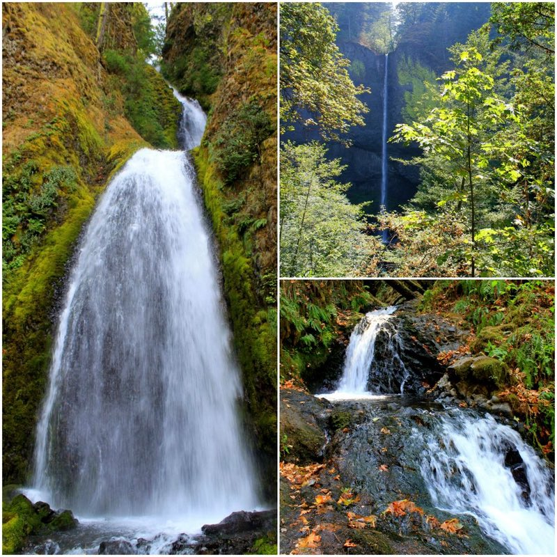 Columbia River Gorge Waterfall Collage